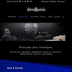 Duos - Concerts, animations musicales, événements, spectacles, mariages - Pianiste solo, duos, trios - Jazz, pop, gospel, chanson. Savoie, Rhône-Alpes, Suisse - David Bonnin
