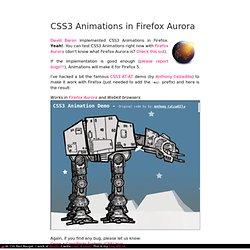 CSS3 Animations in Firefox Aurora