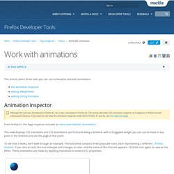 Work with animations - Firefox Developer Tools