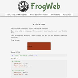 Animations – FrogWeb