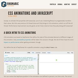 CSS animations and Javascript