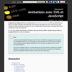 Animations avec SVG et JavaScript