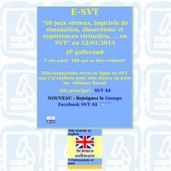 SVT : Jeux sérieux, animations, logiciels et activités en SVT (sciences de la vie et de la terre)