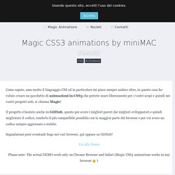 magic css3 animations