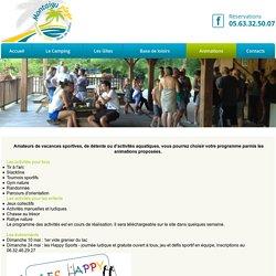 Animations, Montaigu Plage, base de loisirs, baignade, jeux, tarn et garonne, 82, lot et garonne, tourisme