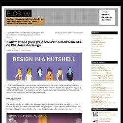 6 animations pour (re)découvrir 6 mouvements de l'histoire du design