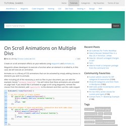 On Scroll Animations on Multiple Divs - Tutorial Shares