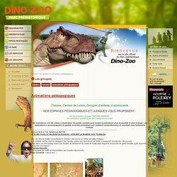 Site officiel de Dino-Zoo · Les groupes · Animations pédagogiques