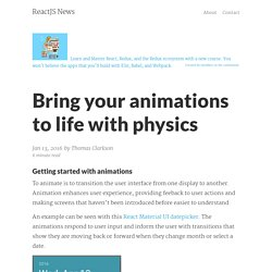 Bring your animations to life with physics – ReactJS News