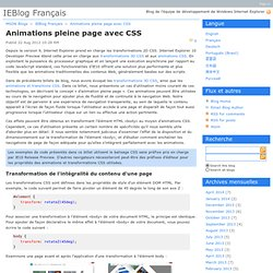 Slider et animation css pearltrees animations pleine page avec css ieblog franais malvernweather Images