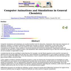 COMPUTER ANIMATIONS AND SIMULATIONS IN GENERAL CHEMISTRY