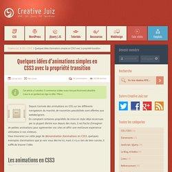 Quelques idées d'animations simples en CSS3 avec la propriété transition - CSS / CSS3
