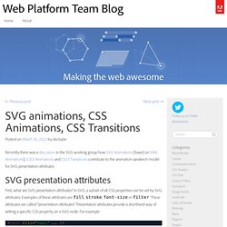 SVG animations, CSS Animations, CSS Transitions