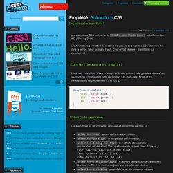 Animations CSS - Enchainez les transitions!