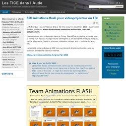 850 animations flash pour vidéoprojecteur ou TBI