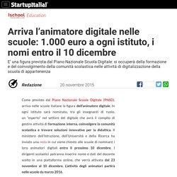 Arriva l'animatore digitale nelle scuole: 1.000 euro a istituto