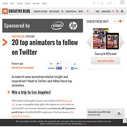 20 top animators to follow on Twitter