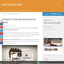 Animatron. Creer des animations en html5