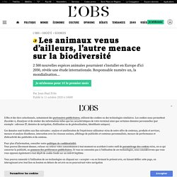 Les animaux venus d'ailleurs, l'autre menace sur la biodiversité