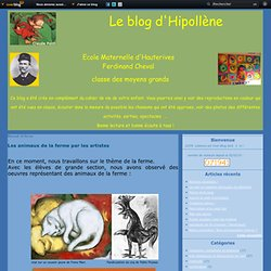 Les animaux de la ferme par les artistes - Le blog d'Hipollène