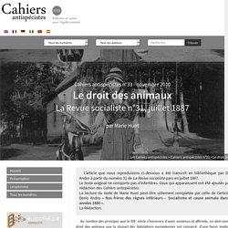 Le droit des animaux - Les Cahiers antispécistes