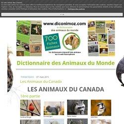 Animaux du Canada - 700 fiches animaux à découvrir