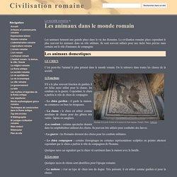 Les animaux dans le monde romain - Civilisation romaine