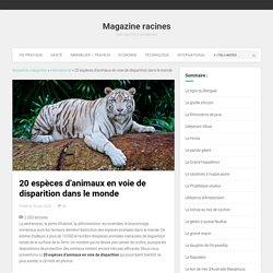 Animaux en voie de disparition : 20 espèces en danger