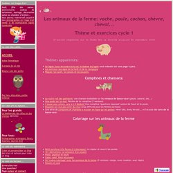 Thème des animaux de la ferme (enfant maternelle) - Le coin des petits (PS TPS)