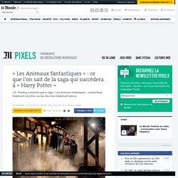 «Les Animaux fantastiques»: ce que l'on sait de la saga qui succédera à «Harry Potter»