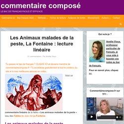 Les Animaux malades de la peste, La Fontaine: analyse linéaire