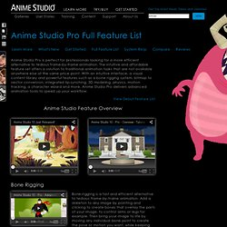 Anime Studio Pro - New Features