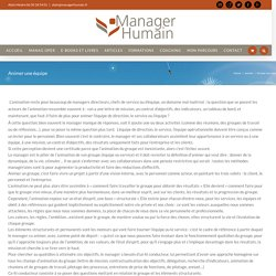 Animer une équipe - Manager humain