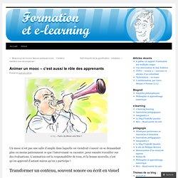 Animer un mooc – c'est aussi le rôle des apprenants