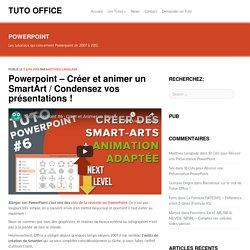 Créer et animer un SmartArt sur PowerPoint