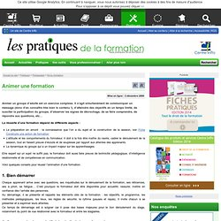 Animer une formation