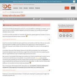 Animez votre site avec CSS3 !