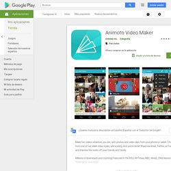 Animoto Video Maker - Make videos with photos and video clips from your phone or tablet.