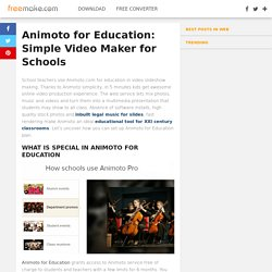Animoto for Education: Video Maker for Schools - Freemake