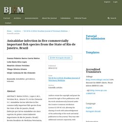 Rev. Bras. Med. Vet., 36(4):375-379, out/dez 2014 Anisakidae infection in five commercially important fish species from the State of Rio de Janeiro, Brazil