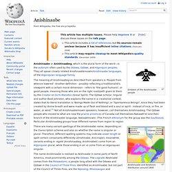 Anishinaabe