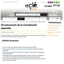 40 aniversario de la Constitución española — Espagnol