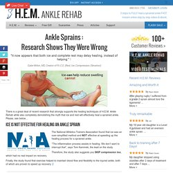 Ankle Sprain Research