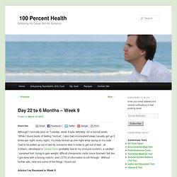 Ankylosing Spondylitis Diet - Week 9