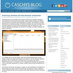 Anleitung: KeePass mit dem Browser verheiraten