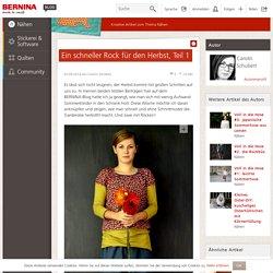 Anleitung für einen Rock aus Webware ohne Schnittmuster › BERNINA Blog