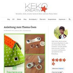 Anleitung zum Thema Ösen - Keko-Kreativ