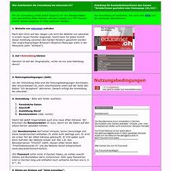 Anmeldung bei educanet.ch