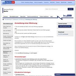 Anmeldung einer Wohnung - Dienstleistungen - Service Berlin - Berlin.de