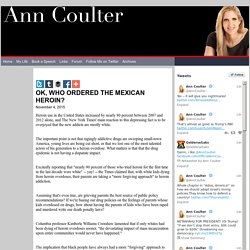 Welcome to AnnCoulter.com